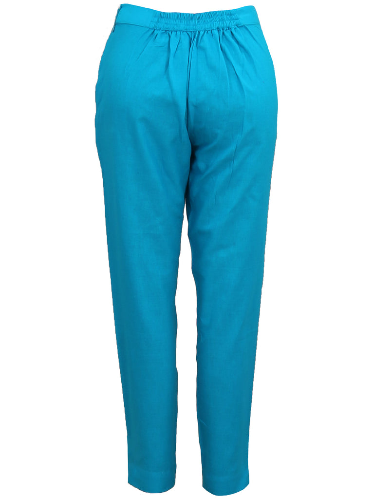 Hawaiian Ocean Cotton Cigarette Pants