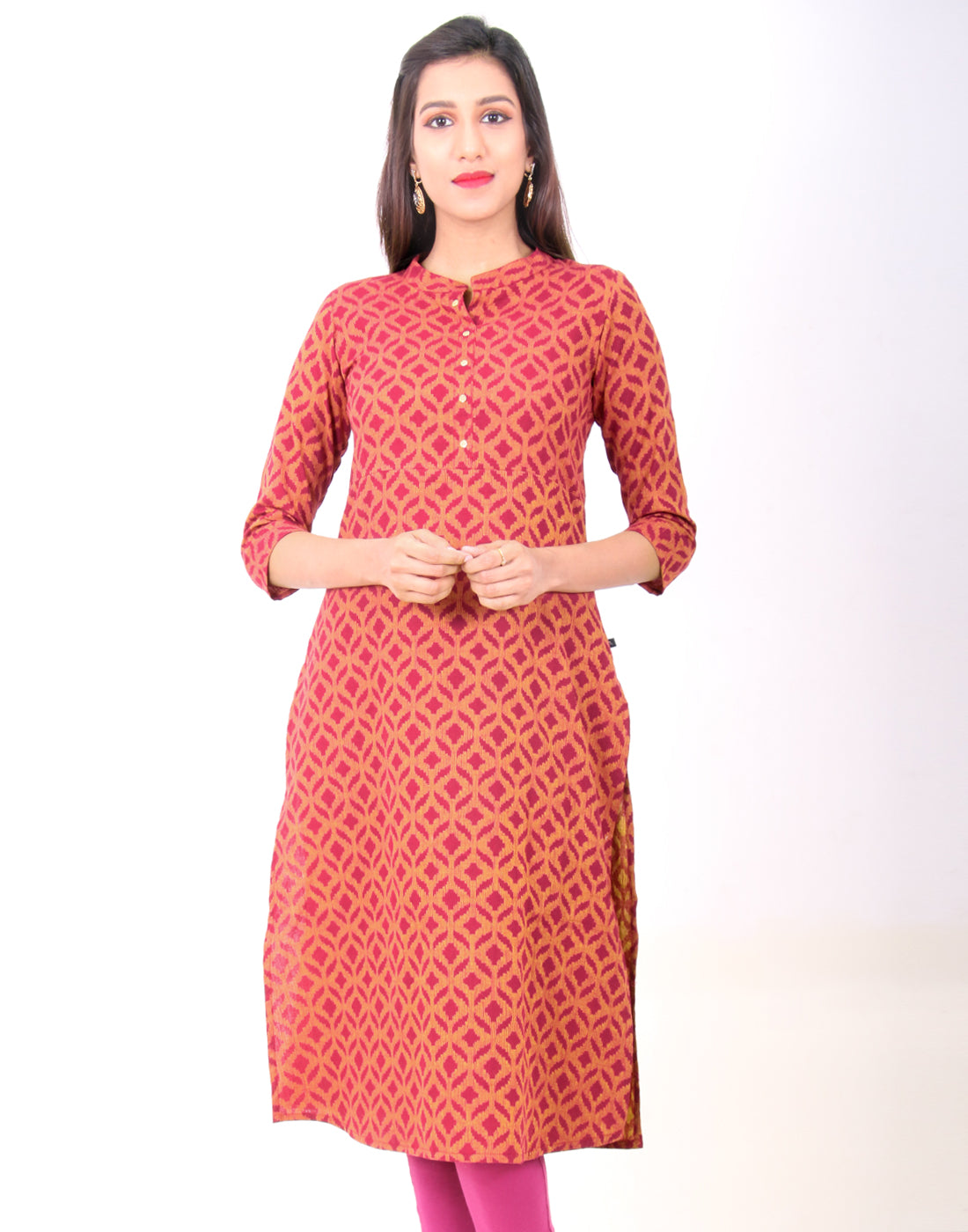 Beet Red South Cotton Kurta