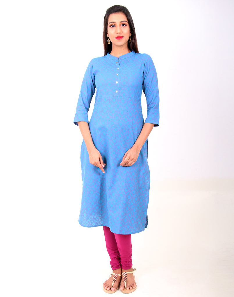 Dresden Blue South Cotton Kurta