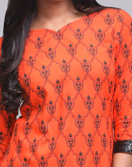 Spicy Orange Rayon A-Line Kurta