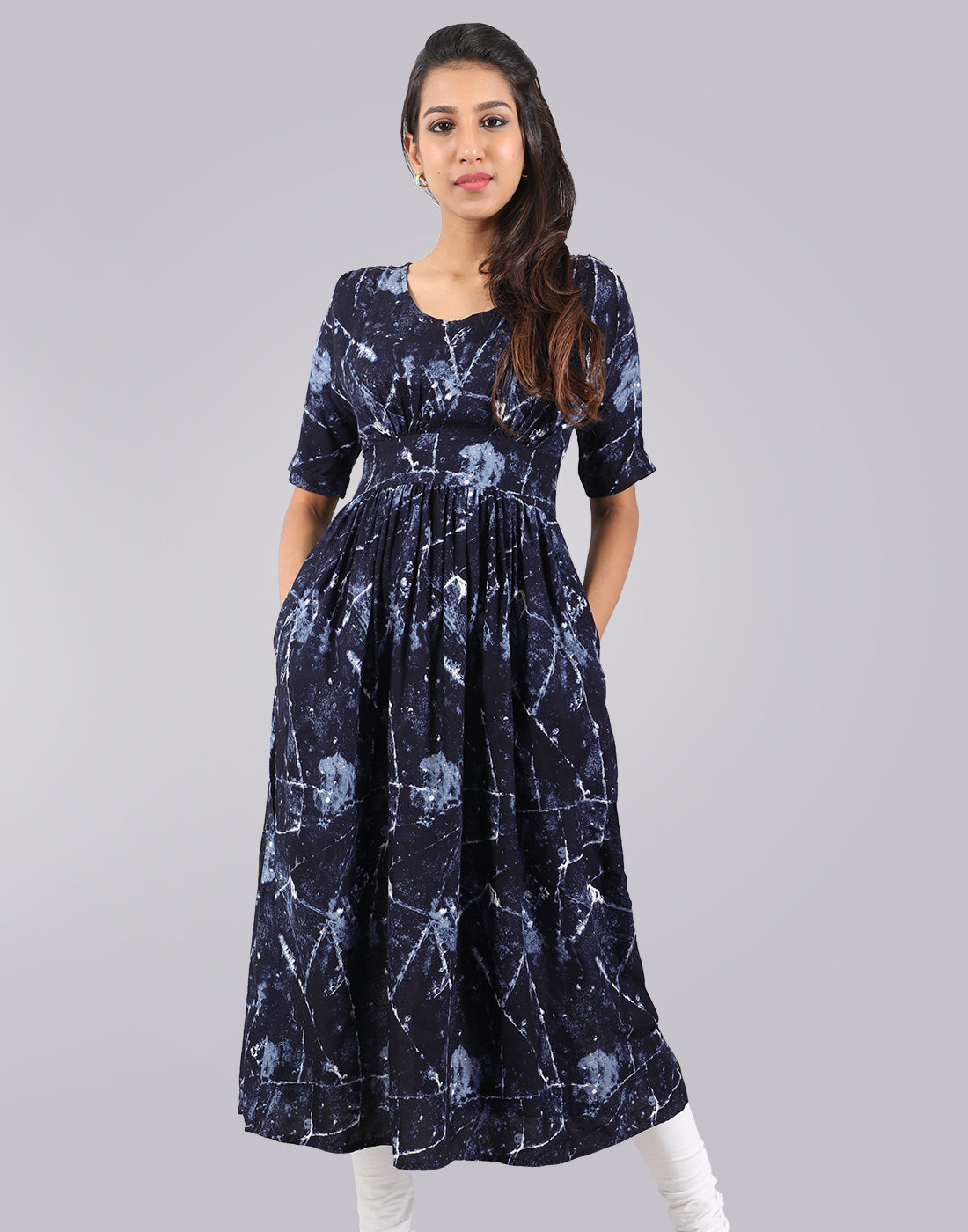 Blue Rayon Kurta Dress From eSTYLe