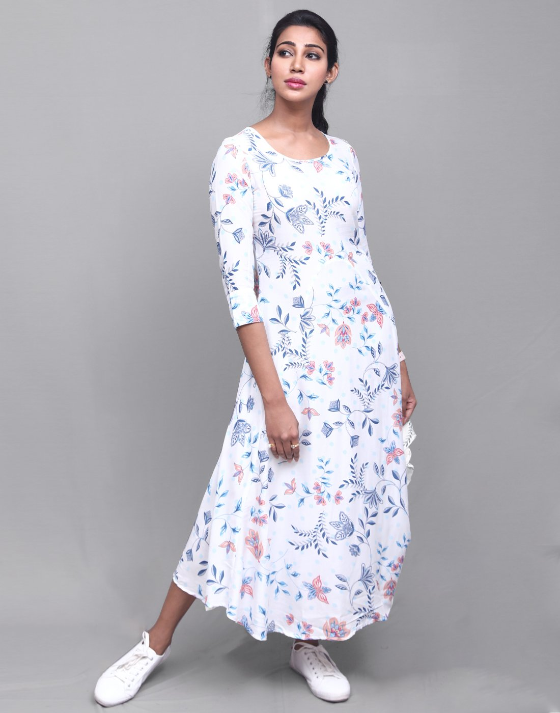 White 'N' Blue Modal Anarkali