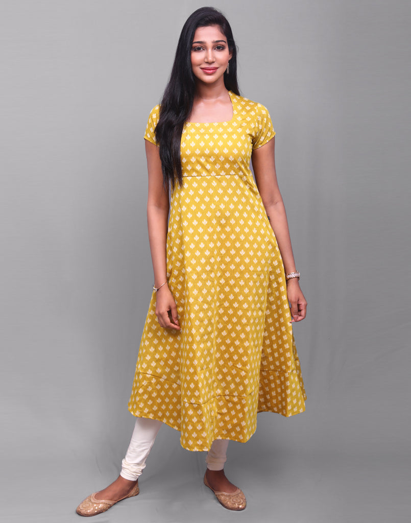 Nugget Gold Dollar Butti Anarkali Kurta