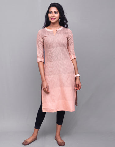 Coral Reef Cotton Striped Kurta