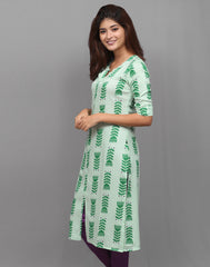 Forest Green Ethnic Printed Kurta