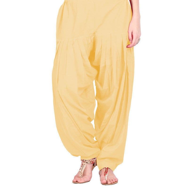Sandal Yellow Colour Semi Patiala Bottom With Side Pockets From eSTYLe