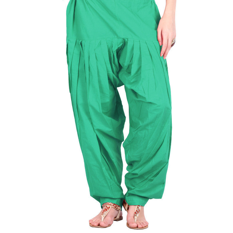 Green Semi Patiala Bottom With Side Pockets From eSTYLe