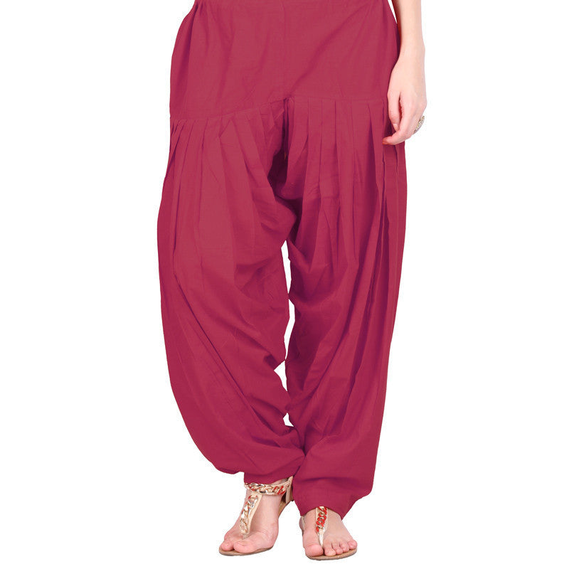 Maroon Colour Semi Patiala Bottom With Side Pockets From eSTYLe