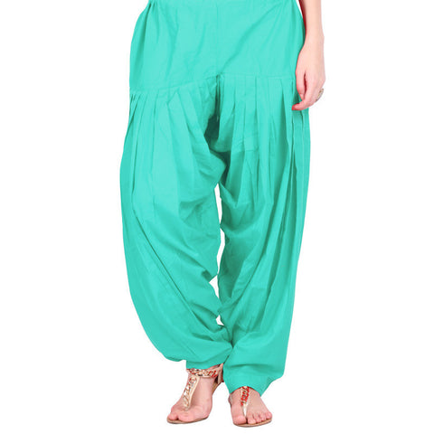 Angel Blue Colour Semi Patiala Bottom With Side Pockets