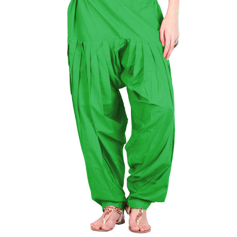 Semi Patiala Bottom In Pool Green With Side Pockets