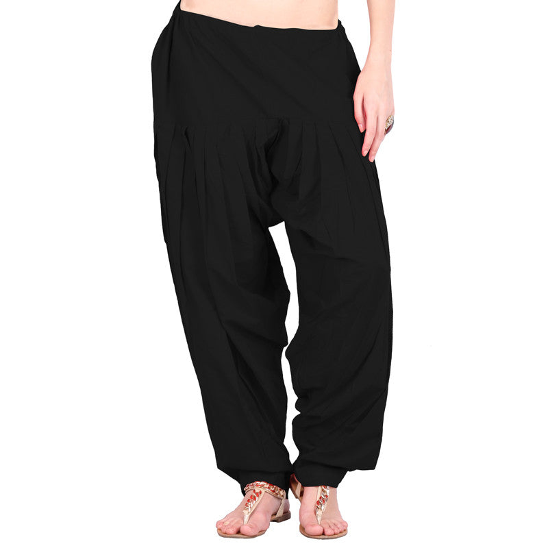 Black Colour Patiala Bottom With Side Pockets
