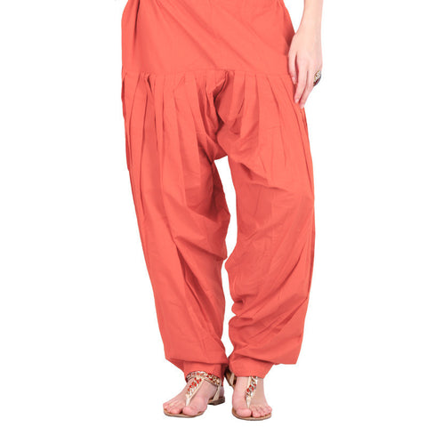 Salmon Orange Colour Semi Patiala Bottom From eSTYLe