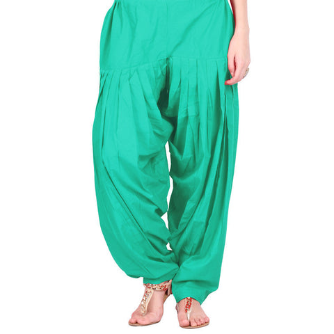 Spectra Green Semi Patiala Bottom With Side Pockets From eSTYLe