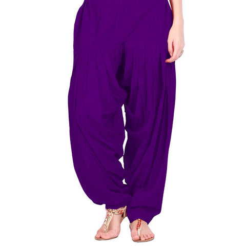 Purple Colour Patiala Bottom With Side Pockets