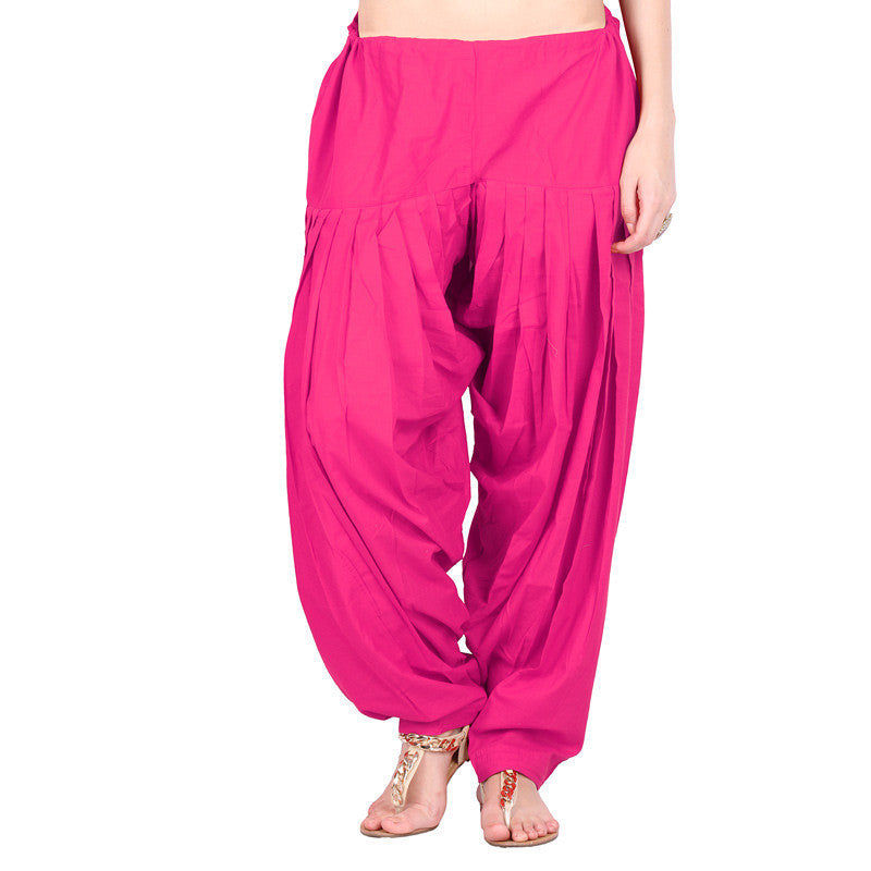 Carmine Pure Cotton Semi Patiala Bottom