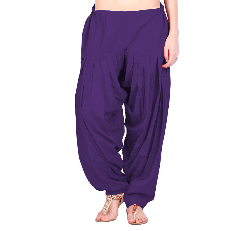 100% Cotton Deep Wisteria Semi Patiala Bottom