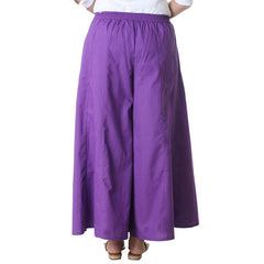 Deep Lavender Cotton Stylish Palazzo From eSTYLe