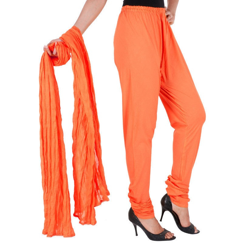 Tigerlily Colour Chudi Bottom With Dupatta From eSTYLe
