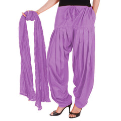 eSTYLe Dewberry Colour Patiala Bottom And Dupatta With Side Pockets