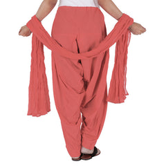 eSTYLe 100% Cotton Mauvewood Patiala Bottom With Dupatta