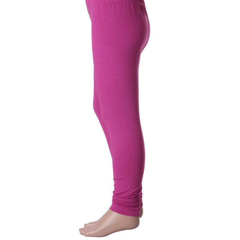 Kids Pink Colour Enrich Finished Cotton Lycra Leggings From eSTYLe Girls
