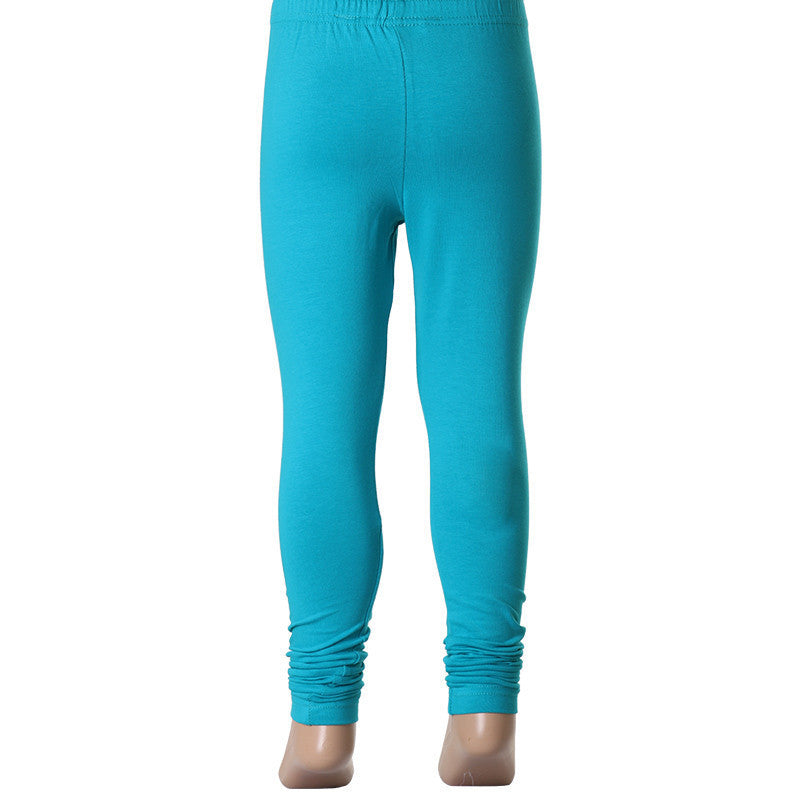 Kids Rich Finish Cotton Lycra Leggings In Blue Color From eSTYLe Girls