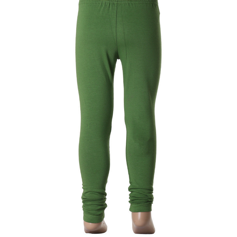 Kids Forest Green Super Rich Finish Cotton Lycra Legging from eSTYLe
