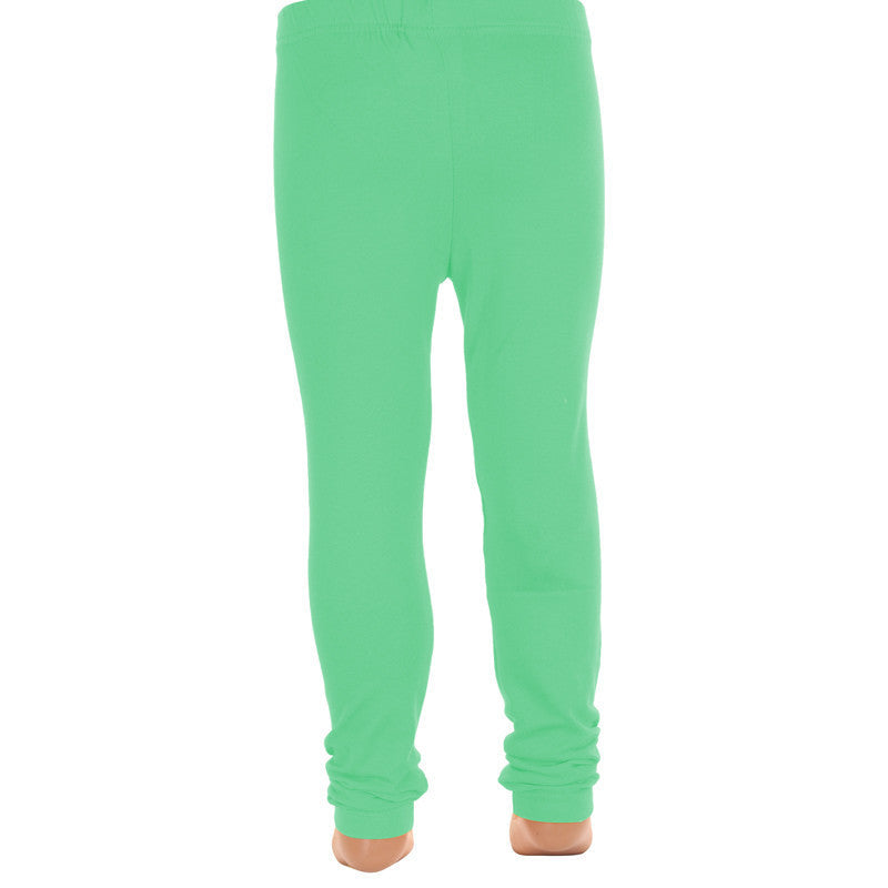 Deep Sea Green Super Rich Finish Cotton Lycra Leggings For Kids from eSTYLe  Girls