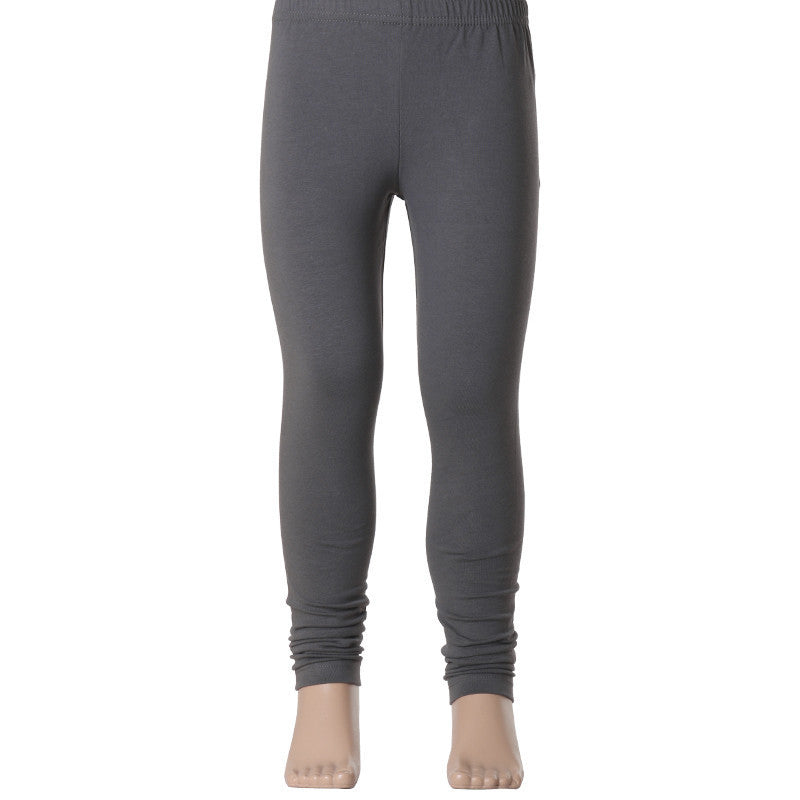 Kids Estyle's  Enrich Finished Cotton Lycra Leggings In Grey Colour