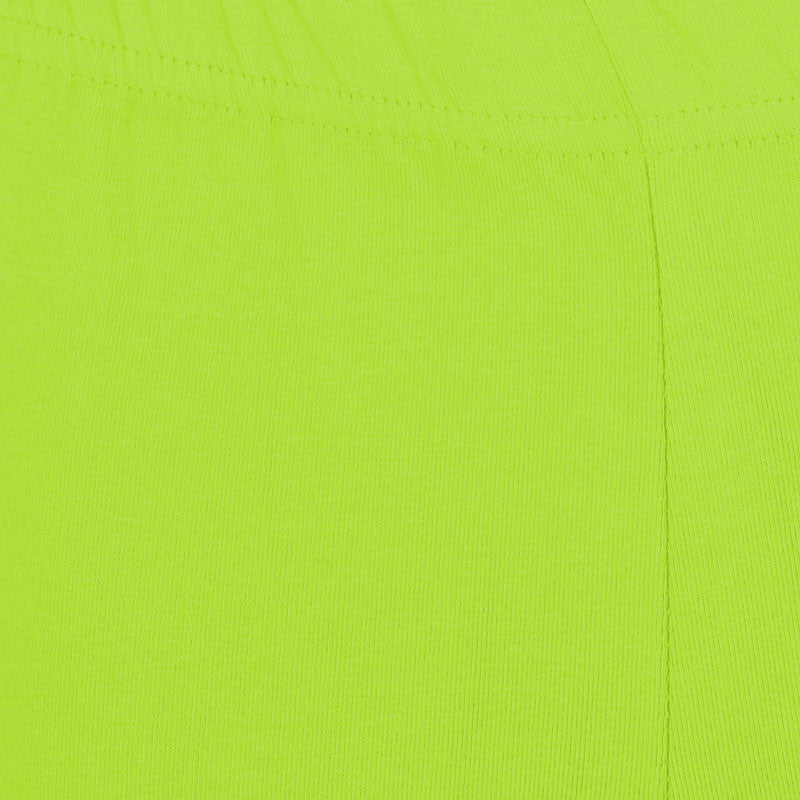 Fluorescent Green Super Rich Finish Cotton Lycra Leggings For Kids from eSTYLe  Girls