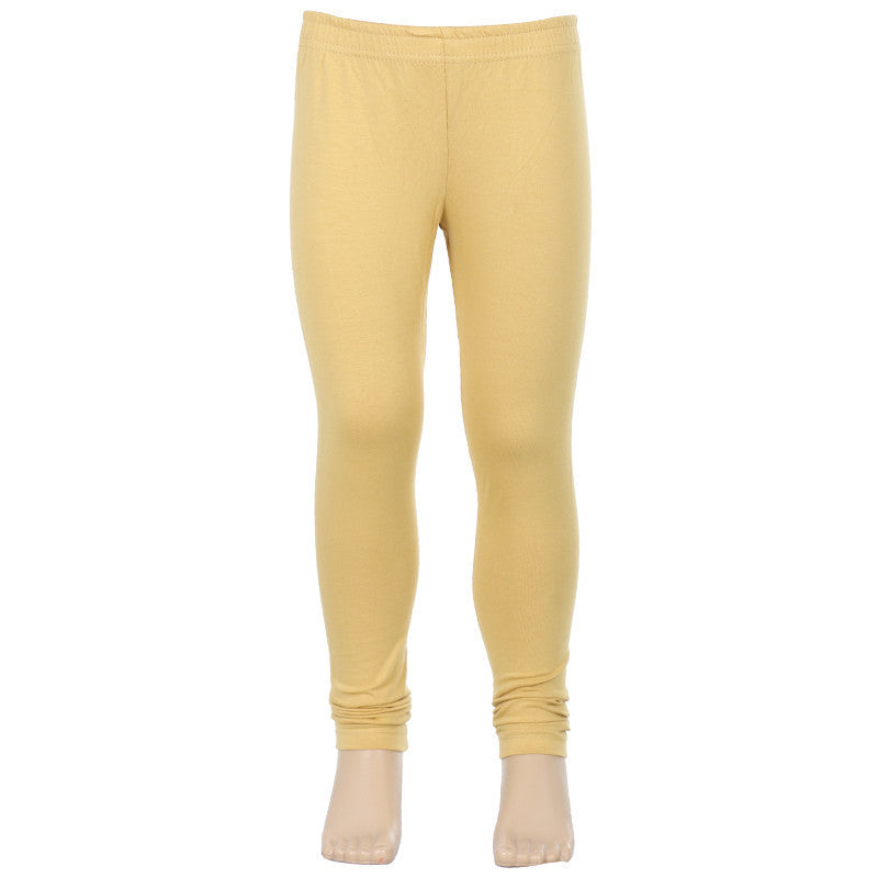 eSTYLe Girls Sand Beige Colour Super Rich Finish Lycra Cotton Stylish Kids Leggings