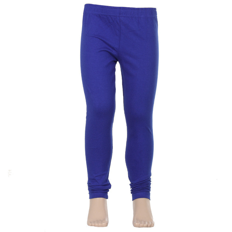 eSTYLe Girls Dazzling Blue Colour Super Rich Finish Lycra Cotton Casual Kids Leggings