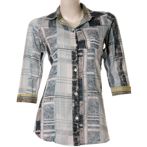 Trendy Women Coral Blue Shirt With Shirred Pattern