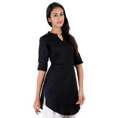 Elegant Short Kurti From eSTYLe With Fold up Sleeves