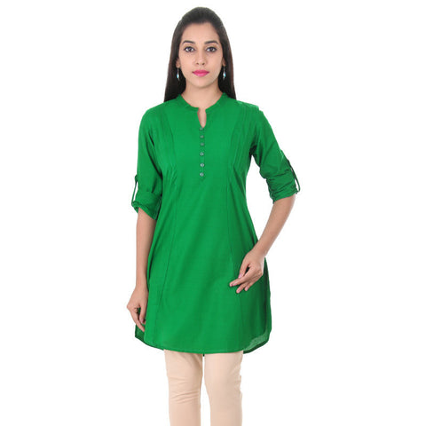 Verdant Green Chinese Collar Stylish Kurta From eSTYLe