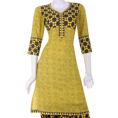Magic Amber Printed Cotton Kurti From eSTYLe