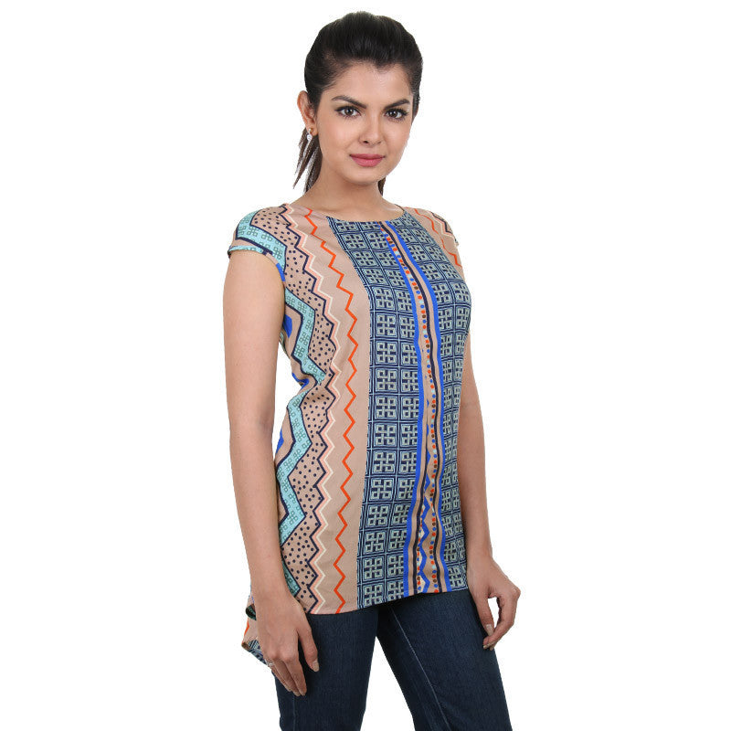 Western Tops - Multi Colour Trendy Printed Rayon Tops
