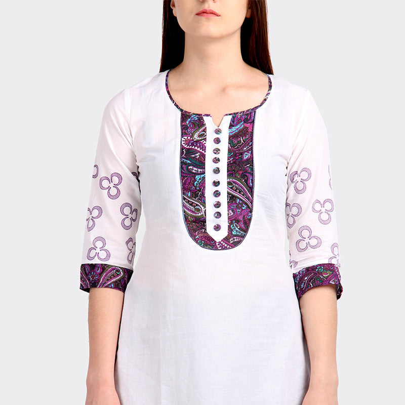 Casual Cotton Lily Green Kurta From eSTYLe
