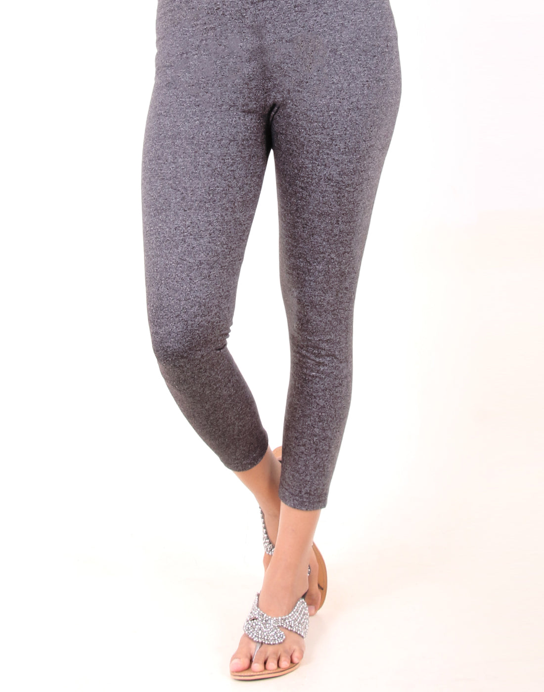 Charcoal Gray Ankle Leggings