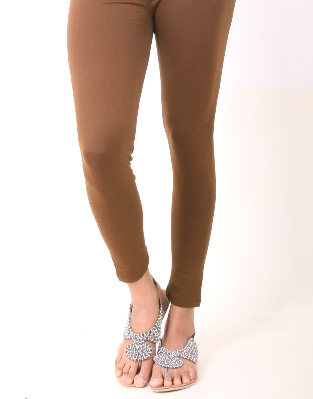 Cocoa Brown Ankle Leggings