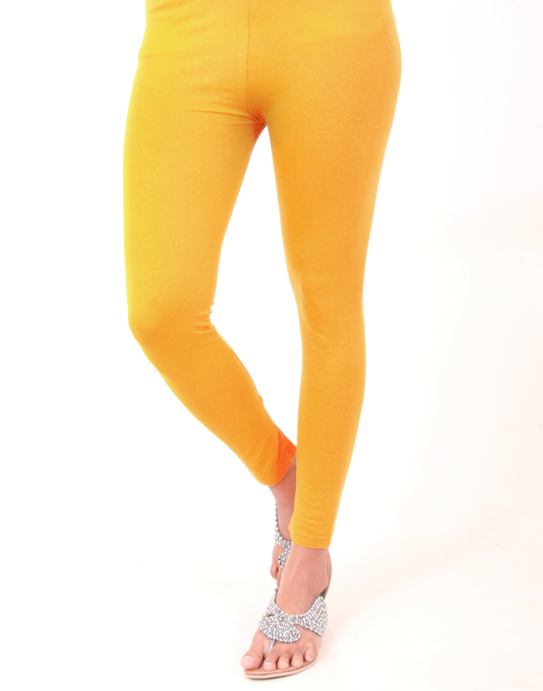 Gold Fusion Ankle Leggings