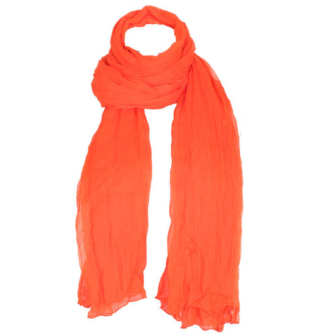 eSTYLe Flame Orange Ultimate Chiffon Dupatta