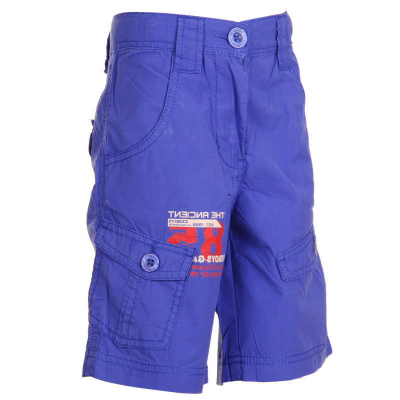Ice Boys - Solid Robin Blue Cotton Shorts For Boys