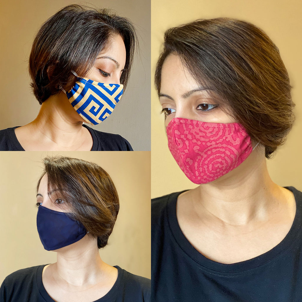 Protective 3-Layer designer mask (pack of 3) FEM01-01