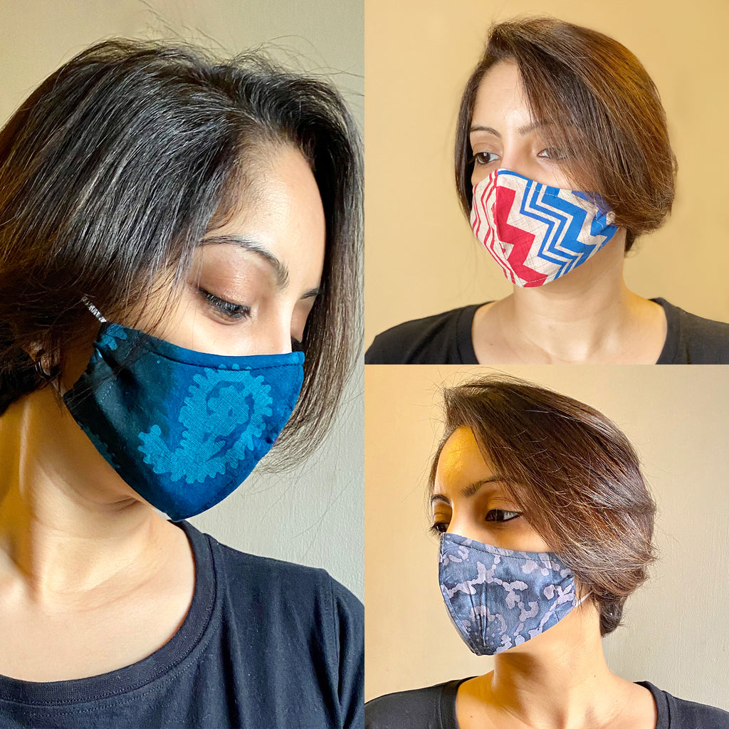 Protective 3-Layer designer mask (pack of 3) FEM01-02