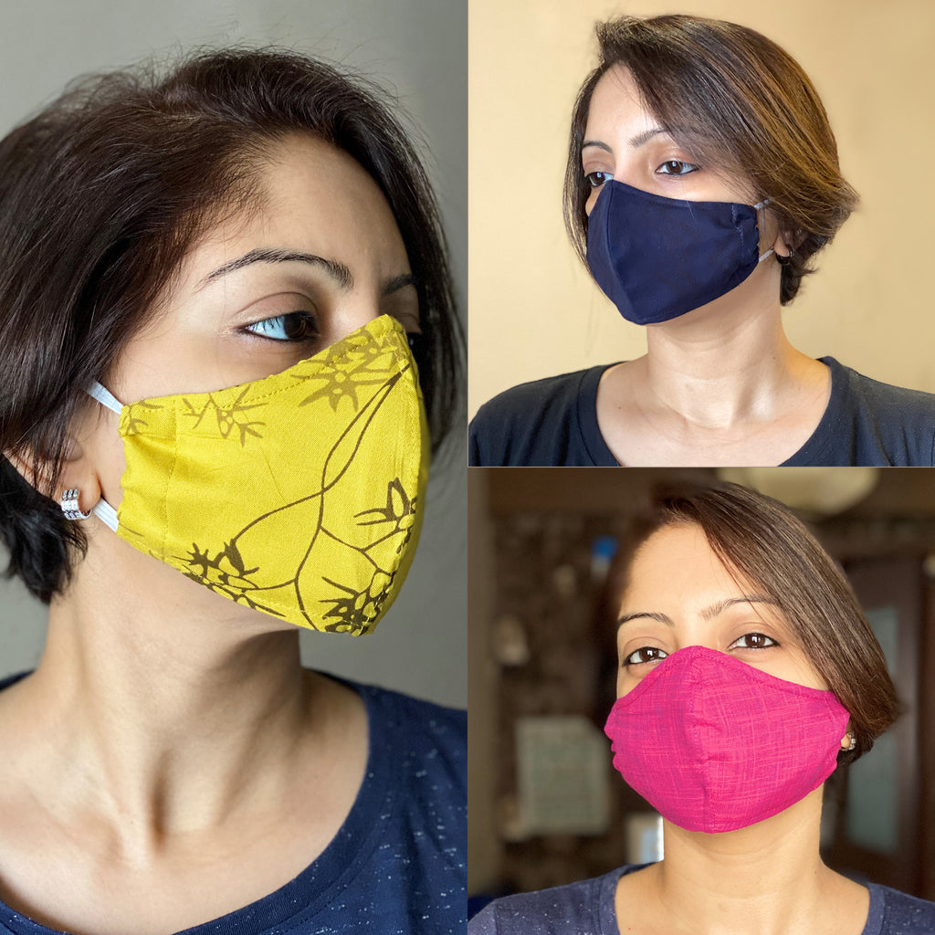 Protective 3-Layer designer mask (pack of 3) FEM01-05