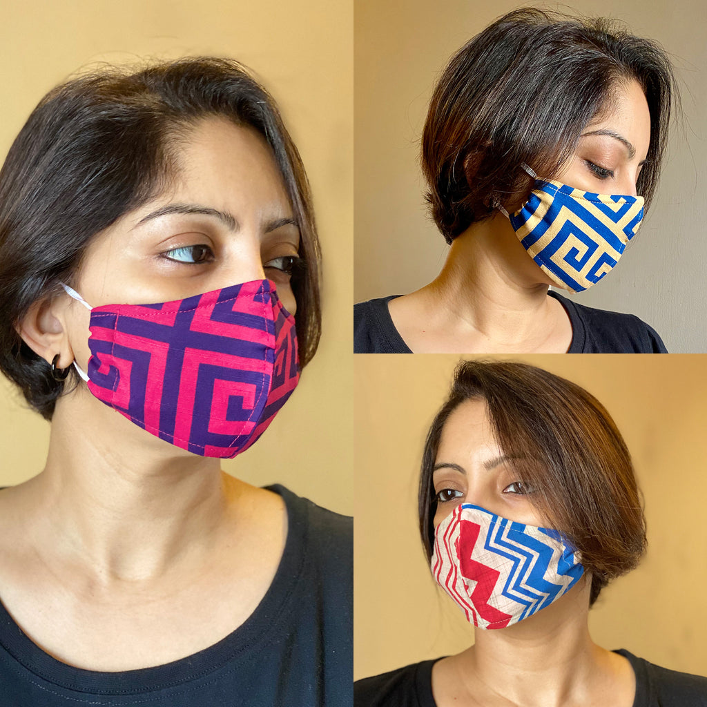 Protective 3 Layer designer mask (pack of 3) FEM01-20