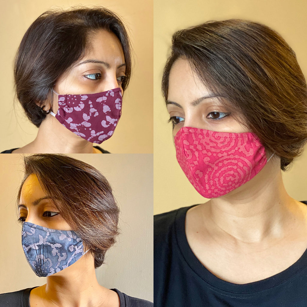 Protective 3 Layer designer mask (pack of 3) FEM01-21