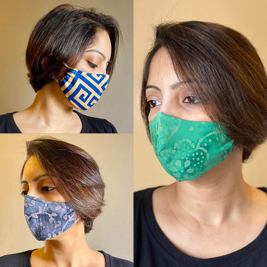 Protective 3 Layer designer mask (pack of 3) FEM01-24