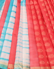 Coral Handloom Kota Cotton Saree